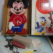 Disney Pet Eye Watch Mickey Mouse Celluloid Vintage Dead Stock With Box Rare