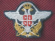 Serbia - Serbian Army - Army Airforce Nco's Beret Patch - Embroidered - Rrr
