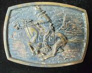 Bsa Belt Buckle Horse Rider Heavy Boy Scout Accessory Numbered Vintage