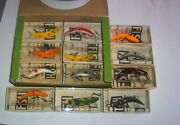 12 Vintage Flatfish F7 Fishing Lures In Dealer F5 Box Original Boxes Andpapers Ex