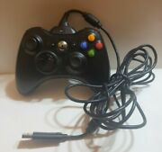 Oem Microsoft Xbox 360 Black Wireless Controller W/ Rechargeable Battery And Cable