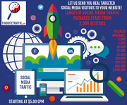 Real Targeted Social Media Traffic Visitors Choose Audience And Social Network