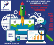 Real Targeted Mobile Traffic Visitors Choose Audience Location And Os