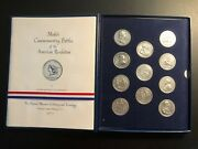 Americas First Medals Set 11 Pewter Medals. A United States Mint