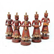 Five Piece Musician Band Traditional Wooden Musician Band Man Musician Group