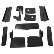 For Cadillac Eldorado 1979-1985 Front And Rear Painted Black Bumper Fillers Set