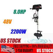 Used 48v Electric Boat Engine 2200w Brushless Outboard Trolling Motor