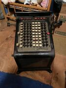 Vintage Antique Burroughs Adding Machine With Glass Front