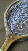 Fly Fishing Net Made From Old Wooden Tennis Racket Rubber Net