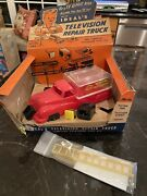 Vtg 1950's Ideal Toy Co. Television Repair Truck Playset Complete New In Box Rar