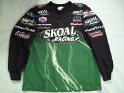 Vintage Made In Usa Outer Circle Nhra Skoal Snake Drag Racing Crew Jersey Sizexl
