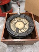 Antique Vintage Ship Compass In Box
