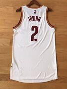 100 Authentic Kyrie Irving Autographed Team Issued Cleveland Cavaliers Jersey