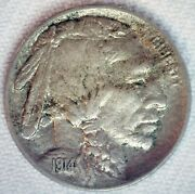 1914 D Buffalo Indian Head Nickel 5c Us Coin Extra Fine Circulated Denver Mint