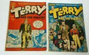 Terry And The Pirates Lot Of 2 Comics 4 And 5 Golden Age - Estate Fresh 1947