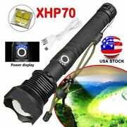 900000 Lumens Zoomable Xhp70 Led Usb Rechargeable Torch Flashlight Super Bright