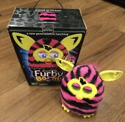 2013 Hasbro Furby Boom Black And Pink Striped W/ Documentation. Fully Functional