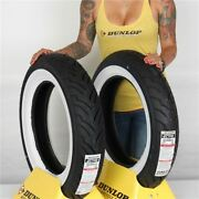 Mt90b 16 Mu85b 16 Dunlop American Elite Front And Rear Wide White Wall Tire Kit