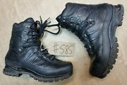Meindl German Army Sf Issue Black Leather Goretex Combat Boots Size 8.5 Uk 585