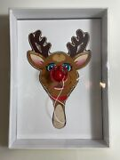 Jeff Koons Rudolph The Red-nosed Reindeer Paddle Edition Of 900 2000 Nib