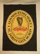 Guinness Extra Stout Dublin Ireland Fabric Flag Tapestry Beer Mancave
