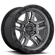 New 4ea 18x9 Fuel Wheels D701 Ammo Anthracite With Black Ring Off Road Rimss11