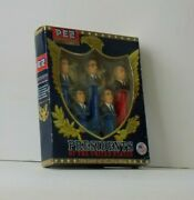 Pez Presidents Set Of Five Volume 7 Vii Education Series 1933-1969 With Box