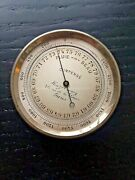 Antique Pocket Weather Barometer 2 Inch French Made In Paris Very Cool