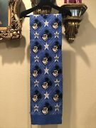 100 Authentic X Disney Blue Mickey Mouse Jacquard Knit Scarf