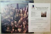 Foo Fighters Signed Sonic Highways Vinyl Album W/ Bas Loa Dave Grohl +3