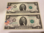 2 Consecutive 1976 2 Two Dollar Bill, First Day Of Issue Air Force Base