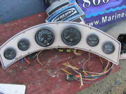 1986 Cheetah Boat Gauges Curved Instrument Cluster 22 X 5 Inch