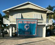 Only One Miami Dolphins 1984 Afc Championship Flag Stadium Flown Rare