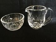Waterford Crystal Lismore Mini Creamer And Open Sugar Bowl Marked