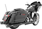 Freedom Racing Dual Exhaust System-blk For Harley-davidson 1995-2008 Hd00206