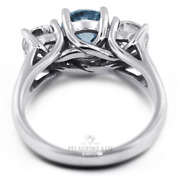 1.63ct Blue Vs2 Round Natural Certified Diamonds 14k Classic Engagement Ring