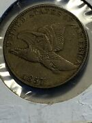 1857 Flying Eagle Cent Extra Fine Attractive Well Struck Coin