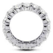 4ct I Si2 Round Earth Mined Certified Diamonds 14kw Gold Classic Eternity Band