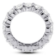 3 1/2ct I Si1 Round Natural Certified Diamonds 14kw Gold Classic Eternity Band