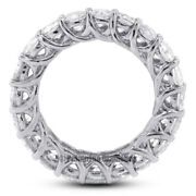 3 1/2 Carat G Vs2 Round Cut Natural Certified Diamonds 14kw Gold Eternity Band