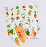 Nail Art Water Transfer Sticker Face Image Flower Leaf Floral Decal Manicure Diy