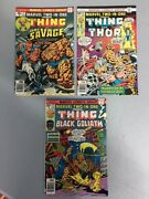 Marvel Two-in-one 21, 22 And 24 Featuring The Thing - Free Shipping