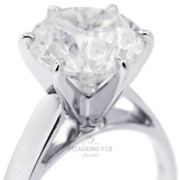 3/4ct H Vs2 Round Natural Certified Diamond Platinum Solitaire Engagement Ring