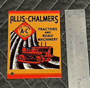 Ac Allis Chalmers Tractors And Machinery Porcelain Like Magnet Farm Gas Oil