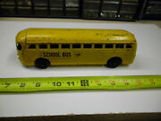 Vintage 1940and039s Streamlined Gm Siversides School Bus Erils First Toy - Very Rare