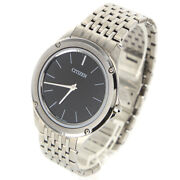 Citizen Eco Drive One 8826-t022812 Solar Black Dial Stainless Menand039s Watch[b0319]