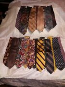 Lot Of 24 Menandrsquos Ties Brooks Brothers Kenneth Cole Murano