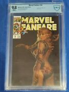 Marvel Fanfare 56 Painted Cover Cbcs 9.8 Shanna White Pages Not Cgc