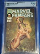 Marvel Fanfare 57 Cbcs 9.8 Shanna Painted Cover White Pages Not Cgc