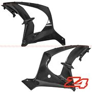 2017-2019 Zx-10rr Carbon Fiber Front Side Engine Radiator Cover Fairing Cowling